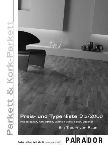 Kork-Parkett - Nutzholz May