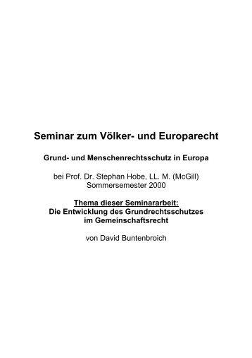 Die Entwicklung des Grundrechtsschutzes im ... - Jurawelt