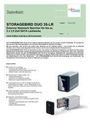 STORAGEBIRD DUO 35-LR Externer Netzwerk Speicher für bis zu 2 ...