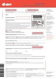Žádost o změnu zákazníka (přepis) - E.ON