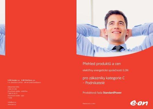 Přehled produktů a cen pro zákazníky kategorie C ... - E.ON