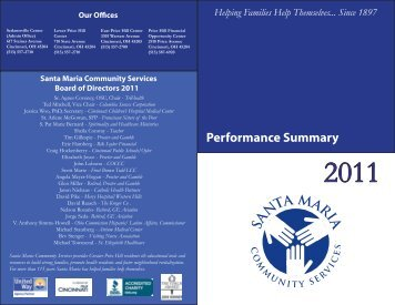View the 2011 Annual Report - Santa Maria Community Services