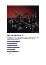 Supertype 11 RS Group Set - Pro Bike Center