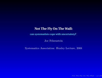 Download a copy of the presentation - Systematics Association