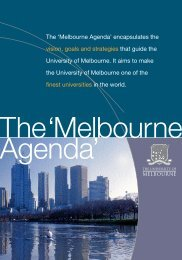 The Melbourne Agenda 2002 - University of Melbourne