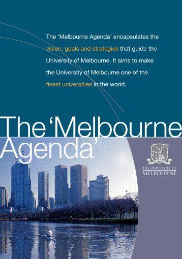 The Melbourne Agenda 2002 - University of Melbourne