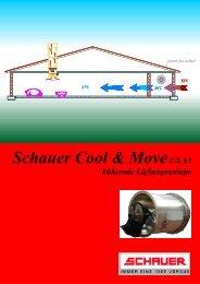 Schauer Cool & MoveUX 63 kü hlende Lü ftungsanlage