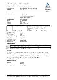 GUTACHTEN zur ABE Nr. 46559 nach §22 StVZO Anlage 14 zum ...
