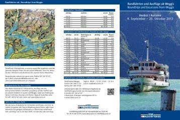 ab Weggis - Schifffahrtsgesellschaft des Vierwaldstättersees