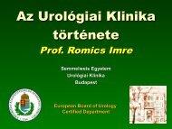 Klinika történet Prof. Romics Imre
