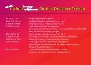 Lichter für den Dresdner Westen - Dr. Eva-Maria Stange