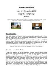 Hauskreis - Freizeit vom 5.-7. November 2010 in der ...