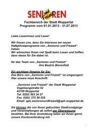 Programmheft S  F Test 1 HJ 2013 06 12 12 - Stadt Wuppertal