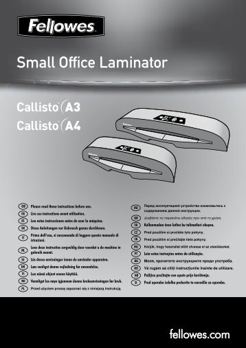 Small Office Laminator - Fellowes