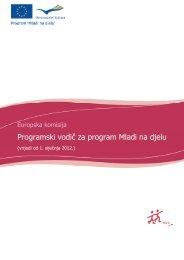 Programski vodič za program Mladi na djelu - Agencija za mobilnost ...