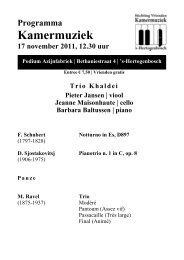 Trio Khaldei - Kamermuziek