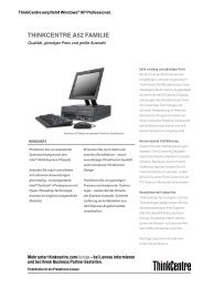 THINKCENTRE A52 FAMILIE - Competence