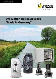 Evacuation des eaux usées -