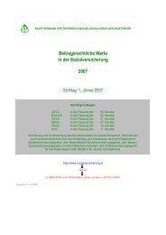 Beitragsrechtliche Werte 2007 - 12.12.06