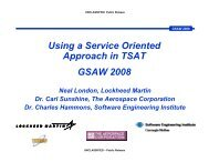 Using a Service-Oriented Approach in TSAT - Software Engineering ...