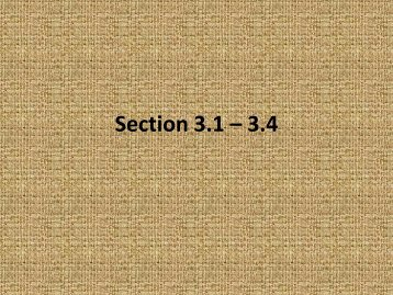 Section 3.1 – 3.2