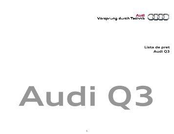 Descarcare lista de pret - PDF - Audi Romania