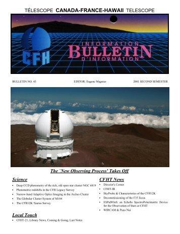 Bulletin 43 - Canada France Hawaii Telescope - University of Hawaii