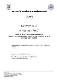 """GV IVBV 2013 In Huaraz – Perú"""""""