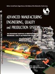 ADVANCED MANUFACTURING ENGINEERING ... - Wseas.us