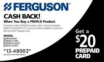 Print your Proflo Mail-In Rebate Form. - Ferguson Enterprises, Inc.