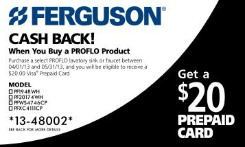 Print your Proflo Mail-In Rebate Form. - Ferguson Enterprises, Inc.