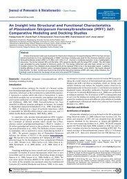 Journal of Proteomics & Bioinformatics - Open ... - OMICS Group