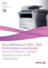Xerox WorkCentre® 3210 / 3220 Multifunktions ... - Comdat