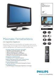 19PFL5522D/12 Philips Breitbild-Flat TV mit Digital Crystal ... - Prad