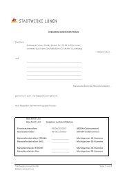 Messdienstleistungsrahmenvertrag (BNetzA) - Stadtwerke Lünen