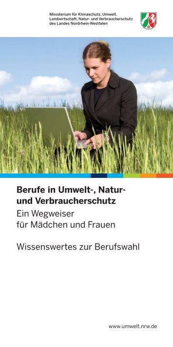 Berufe in Umwelt-, Natur und Verbraucherschutz - Ministerium für ...
