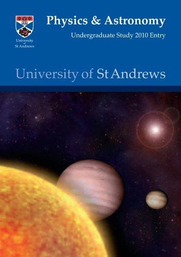 school_entry_brochur.. - University of St Andrews