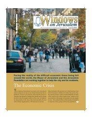 Windows April 2009 - Jerusalem Foundation