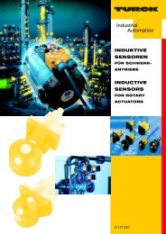 Induktive Sensoren für Schwenkantriebe / Inductive ... - Multiprox