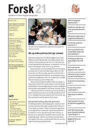 Forsk21 - Statens Byggeforskningsinstitut