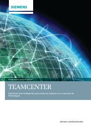 Teamcenter Overview Brochure (Spanish) - Siemens PLM Software