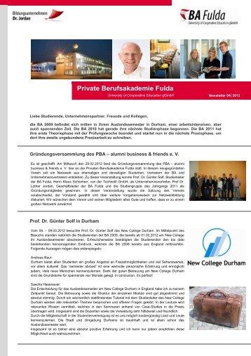Newsletter 04.2012 - Private Berufsakademie Fulda