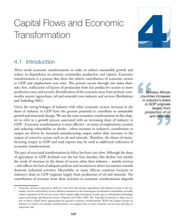 Capital Flows and Economic Transformation