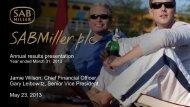 Download US Investor presentation PDF - SABMiller