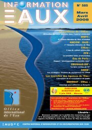 Lire le n° 585 - Office International de l'Eau