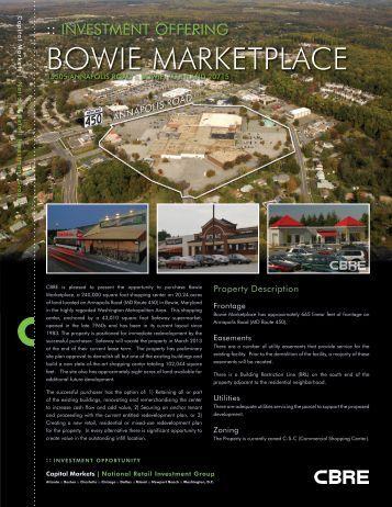 BOWIE MARKETPLACE - CBRE Marketplace