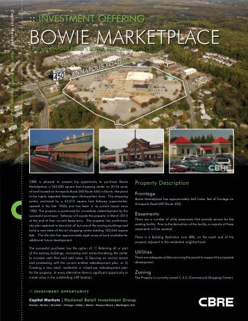 BOWIE MARKETPLACE - CBRE Marketplace
