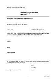 Genehmigungsschreiben Gen.-Nr.: - bei Regionale-Planung.de
