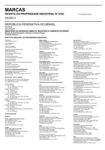 MARCAS - Revista RPI - Inpi