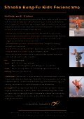 Shaolin Kung-Fu Kids Feriencamp - Maurer Training - Seite 2